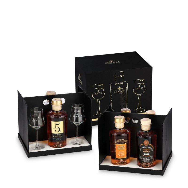 Box in tavola - Prodotti Distilleria Sibona