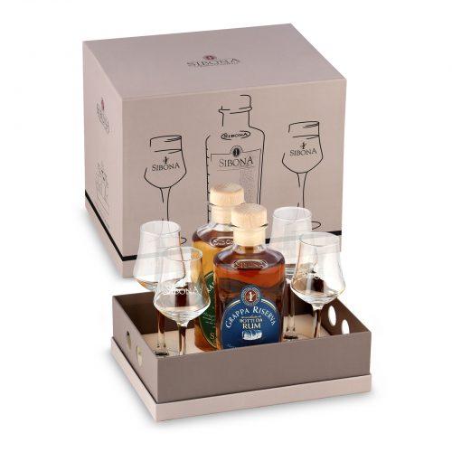 Box vassoio - Prodotti Distilleria Sibona