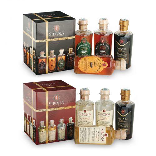 Confezione degustazione grappe Riserva - Distilleria Sibona